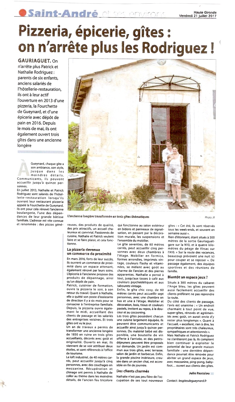 article journal gite
